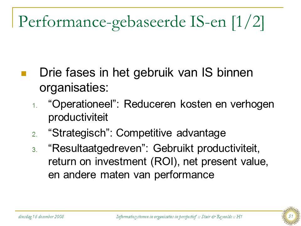 Performance-gebaseerde IS-en [1/2]